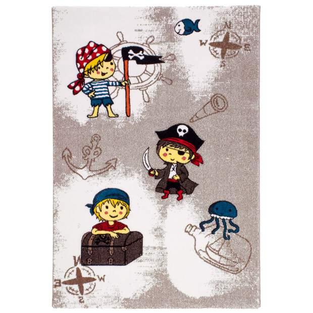 """Kinderteppich """"Momo Pirat"""" Braun in 133x190 cm"""