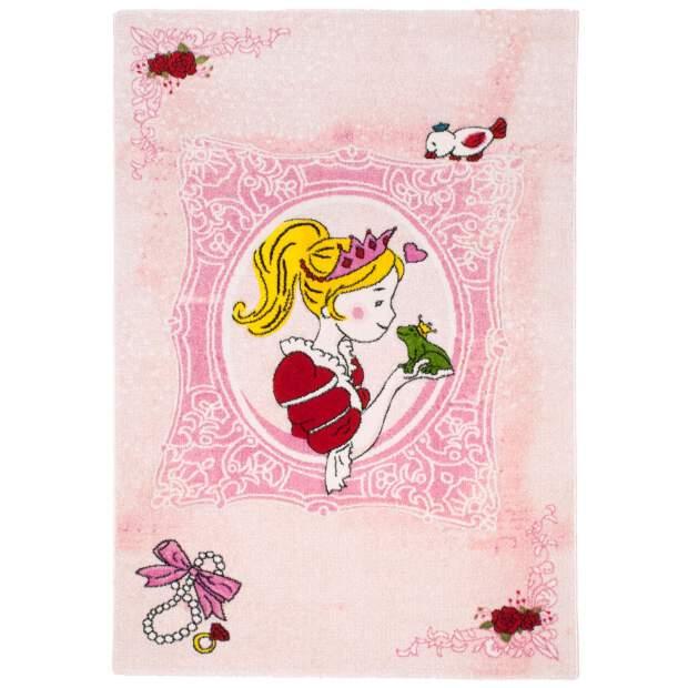 "Kinderteppich ""Momo Prinzessin"" Rosa in 133x190 cm"