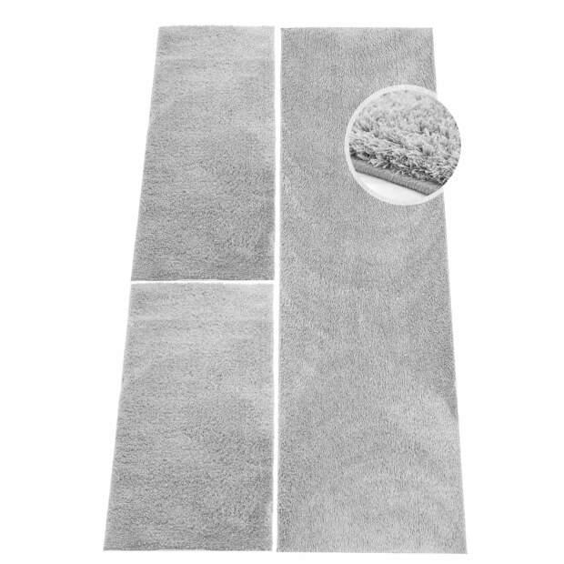Micro-Polyester Bettumrandung Softshine Grau