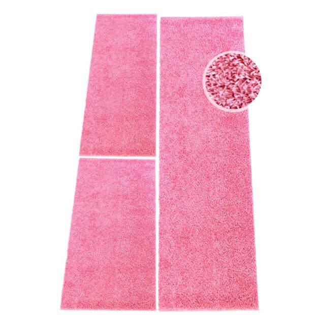 Shaggy Bettumrandung in Pink