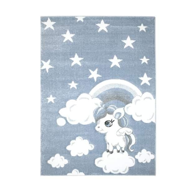 Kinderteppich Einhorn Bueno 1450 Blau