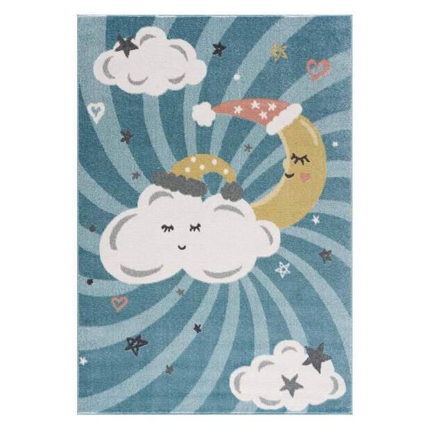 Kinderteppich Wolken Anime 9380 Blau
