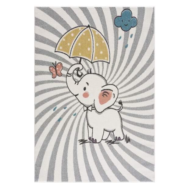 Kinderteppich Elefant Anime 9388 Creme