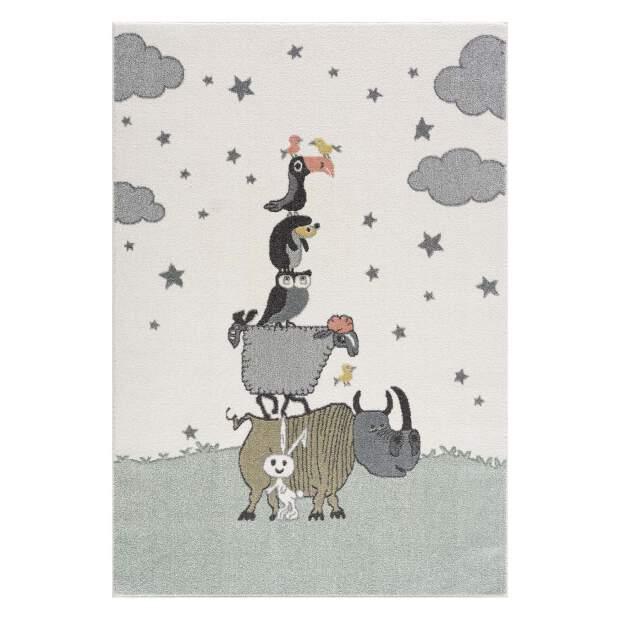 Kinderteppich Tiere Anime 9394 Grün