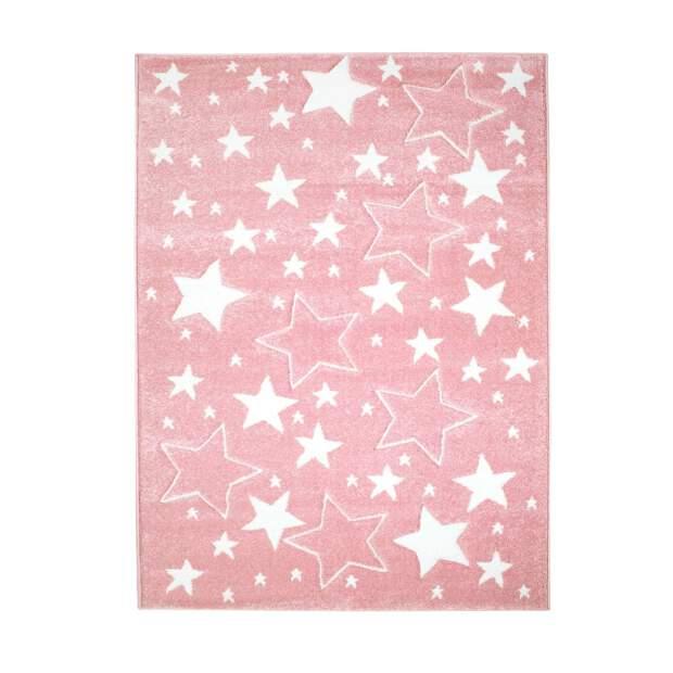 Kinderteppich Sterne Bueno 1325 Rosa