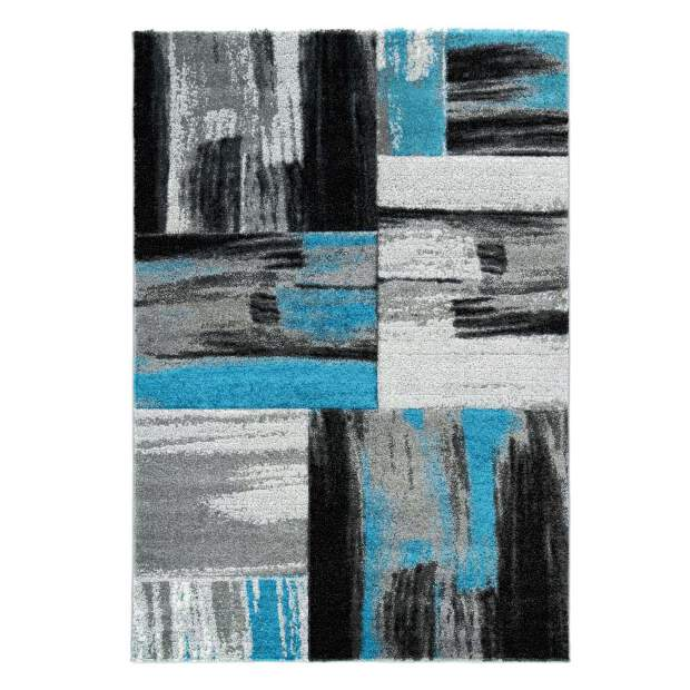 Teppich Handcarving 100 Blau
