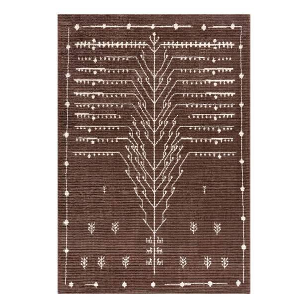 Micropolyester-Teppich April 2308 Braun