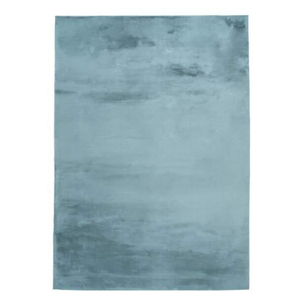 Hochflorteppich Topia Uni Blau
