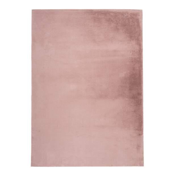 Hochflorteppich Topia Uni Puder-Pink