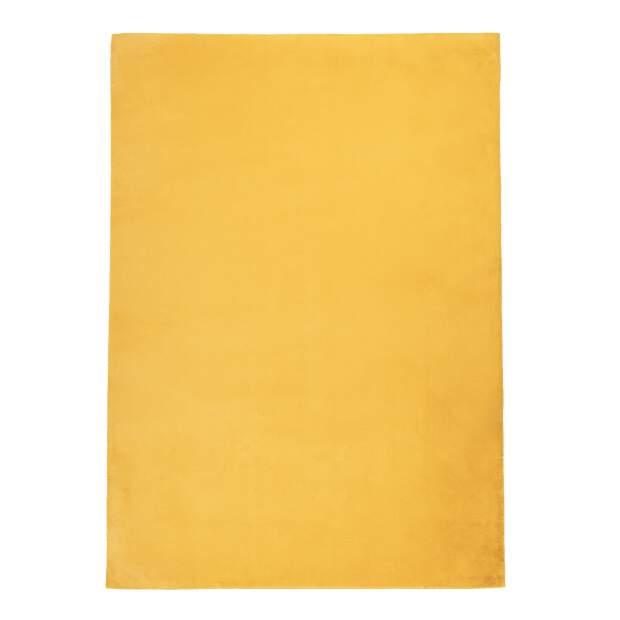 Hochflorteppich Topia Uni Gelb